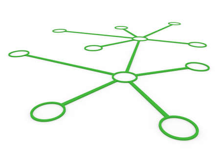 3d network connection circle green social global internet photo