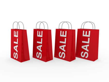 3D Verkauf Tasche rot shopping Rabatt kaufen