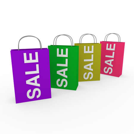 3d sale bag purple retail shopping discount buy Stock Photo - 9759162