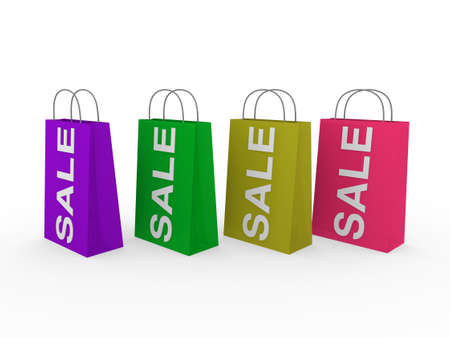 3d sale bag pink retail shopping discount buy photo