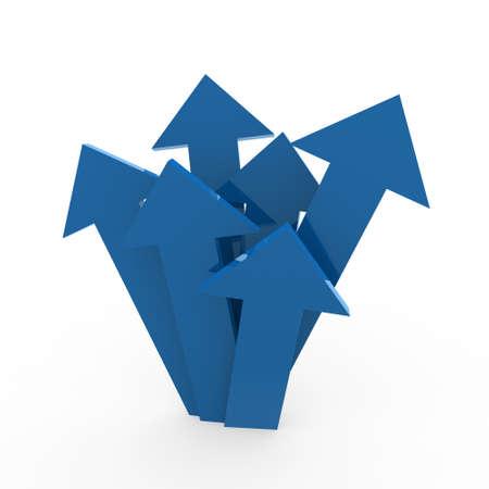 3d arrow high blue chart business success win photo