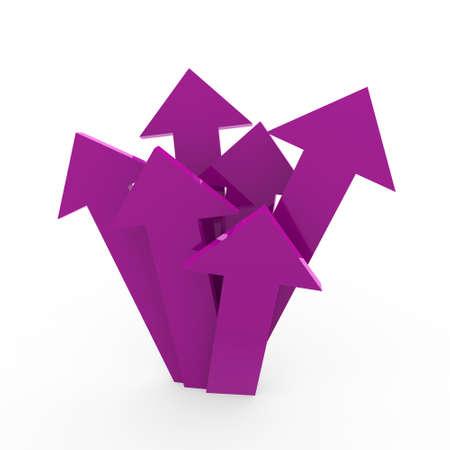 3d arrow high purple chart business success win photo