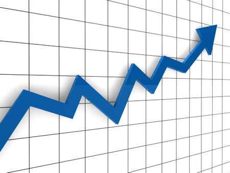 3d, graph, arrow, blue, success, finance, diagram Stock Photo - 10046847