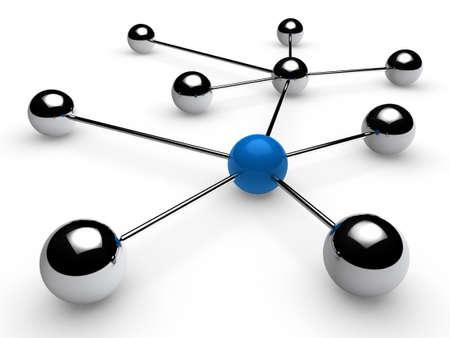 links: 3d, blue, chrome, ball, network, communication, white