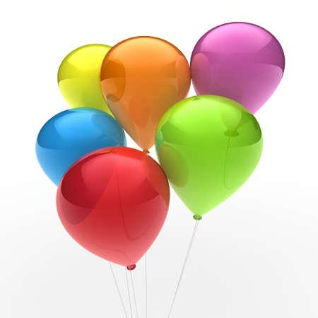 colored balloons: 3d, ballon, balloon, party, birthday, colorful, color