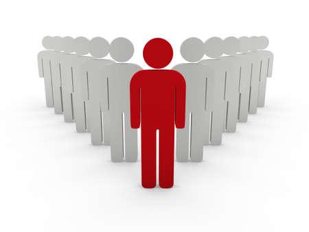 team leader: 3d team leader boss company red teamwork Stock Photo