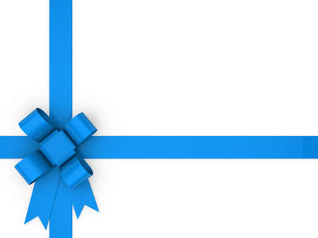 in the loop: 3d loop blue gift ribbon christmas birthday