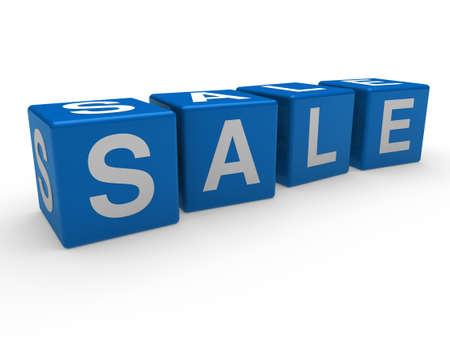 3d, cube, blue, sale, discount, retail, business photo