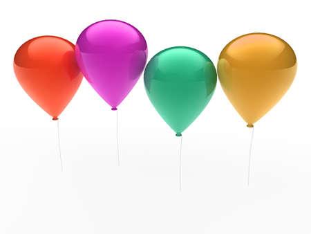 3d, ballon, balloon, party, birthday, colorful, color photo