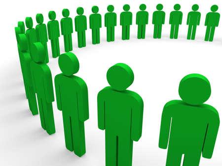 green company: 3d team circle green community social teamwork Stock Photo