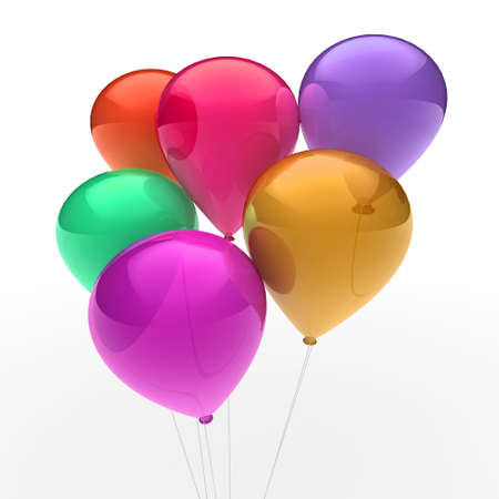 3d, ballon, balloon, party, birthday, colorful, color Stock Photo - 10308084