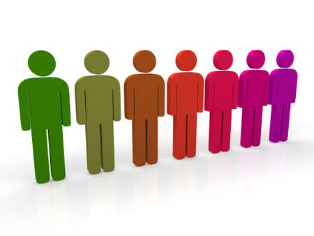 3d people group purple teamwork colorful pink photo