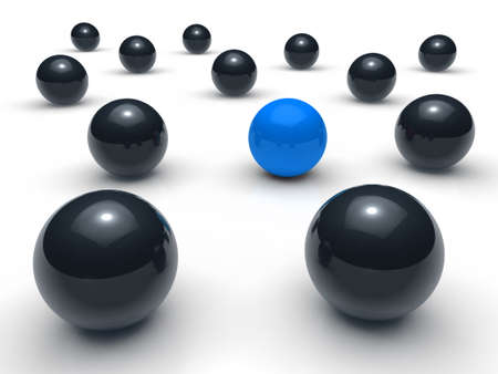 3d ball network blue black sphere team Stock Photo - 10308086
