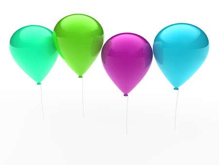 fiesta: 3d, ballon, balloon, party, birthday, colorful, color