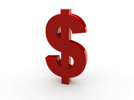 us dollar: 3d dollar red money business currency finance