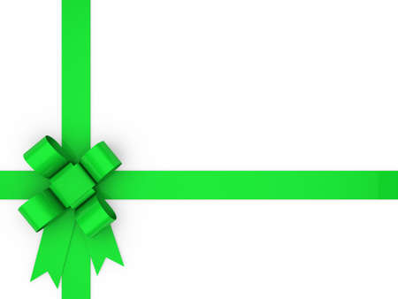 rote: 3d loop green gift ribbon christmas birthday