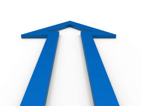 3d arrow blue up growth success business photo