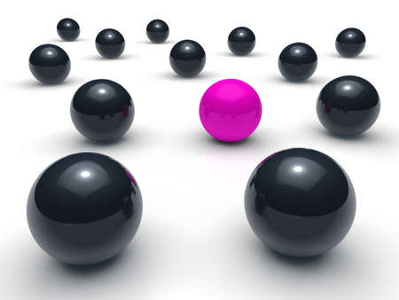 3d ball network purple black sphere team photo
