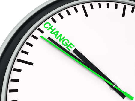 evolve: 3d clock time change countdown deadline green Stock Photo