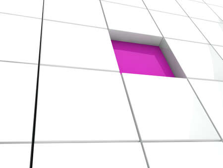 digitally concepts: 3d cube purple white area square abstract