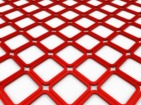 red cube: 3d cube red square background abstract white