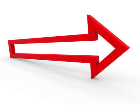 3d arrow red up way icon sign growth photo