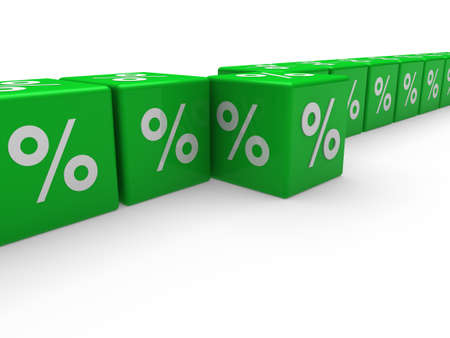 3d cube green sale discount retail percentage photo