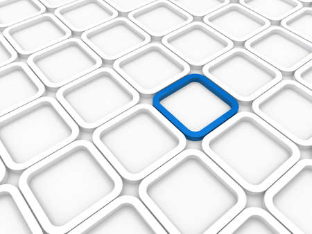 mosaic floor: 3d background area cube blue white structure