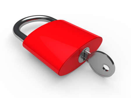 padlock icon: 3d padlock red key safety lock lie