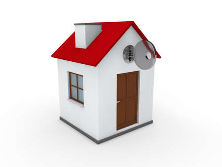 3d house key red home estate security Stock Photo - 10559961