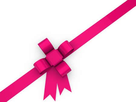 pętla: 3d pętla Narodzenie urodziny różowa wstążka prezent Zdjęcie Seryjne