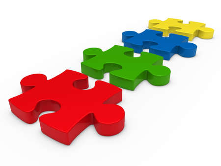 business opportunity: 3d puzzle series red blue green yellow