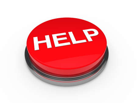 3d button help red push emergency business photo
