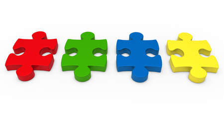 green issue: 3d puzzle piece series red green blue