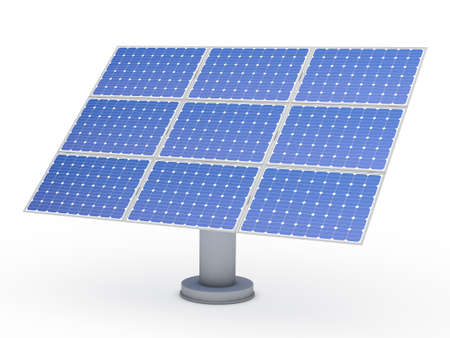 3d solar blue energy photovoltaic panel power photo