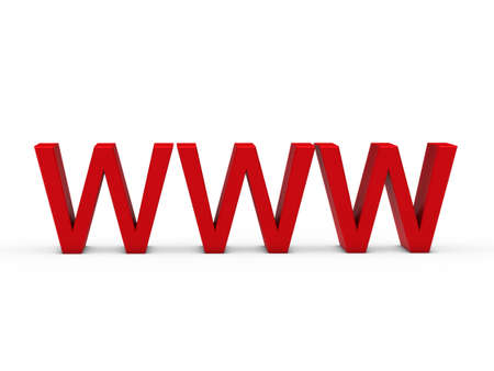 3d www red internet web online domain photo