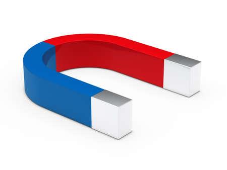 magnetize: 3d magnet red blue on white floor