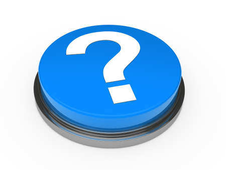 3d button blue with question mark sign Stock Photo - 10844063