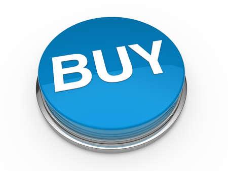chrome button: 3d button buy blue press push click