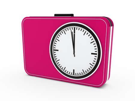3d time glock alarm pink watch countdown photo