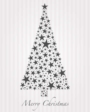 streak: Christmas tree from gray stars and text