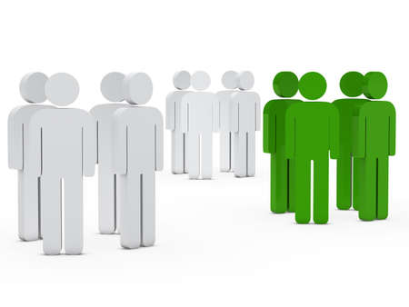 distinguish: 3d business team people group white green Stock Photo