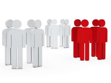 3d business team people group white red photo