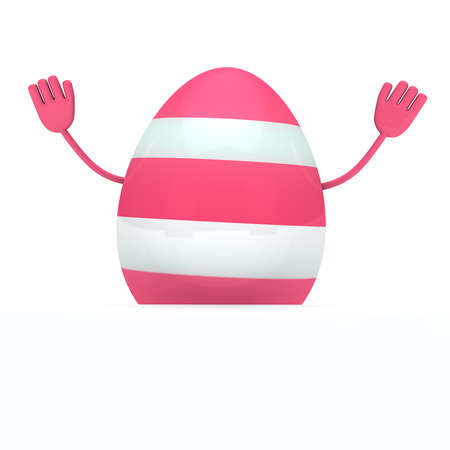 streak: one colorful easter egg with streak wave go Stock Photo