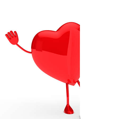 paramour: glossy red valentine heart wave behind wall