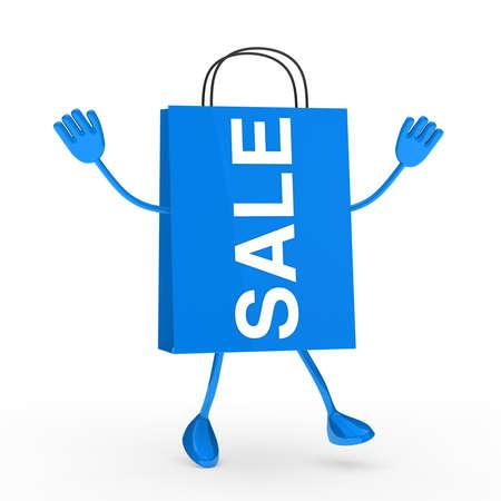 Blue sale percent bag wave and jump photo