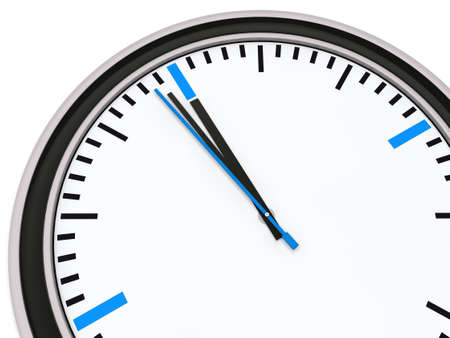 Clock with pointer one minute for twelve Stock Photo - 11961083