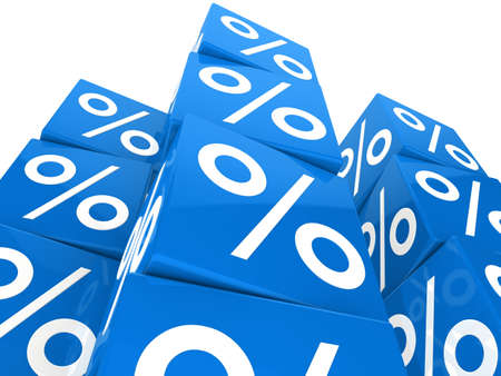 many blue sale percent cubes high tower Stock Photo - 12174302