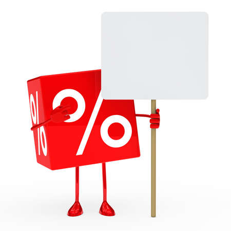 red sale cube show on a billboard photo