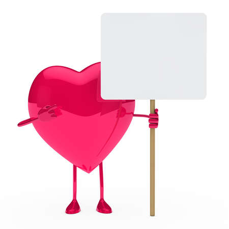 pink heart show and hold a billboard Stock Photo - 12174275